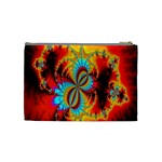 Crazy Mandelbrot Fractal Red Yellow Turquoise Cosmetic Bag (Medium)  Back