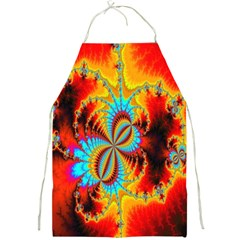 Crazy Mandelbrot Fractal Red Yellow Turquoise Full Print Aprons