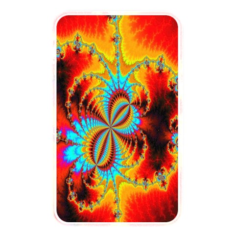 Crazy Mandelbrot Fractal Red Yellow Turquoise Memory Card Reader