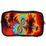 Crazy Mandelbrot Fractal Red Yellow Turquoise Toiletries Bags Front