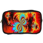 Crazy Mandelbrot Fractal Red Yellow Turquoise Toiletries Bags 2-Side Back