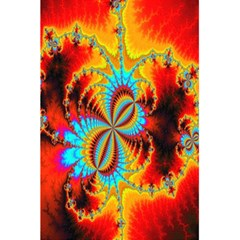 Crazy Mandelbrot Fractal Red Yellow Turquoise 5.5  x 8.5  Notebooks