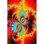 Crazy Mandelbrot Fractal Red Yellow Turquoise 5.5  x 8.5  Notebooks Back Cover Inside