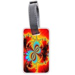 Crazy Mandelbrot Fractal Red Yellow Turquoise Luggage Tags (One Side)  Front