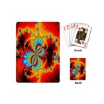 Crazy Mandelbrot Fractal Red Yellow Turquoise Playing Cards (Mini)  Back