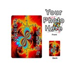 Crazy Mandelbrot Fractal Red Yellow Turquoise Playing Cards 54 (Mini)  Front - Joker1