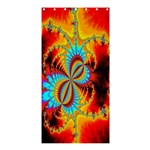 Crazy Mandelbrot Fractal Red Yellow Turquoise Shower Curtain 36  x 72  (Stall)  33.26 x66.24 Curtain