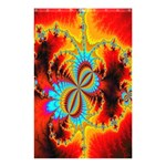 Crazy Mandelbrot Fractal Red Yellow Turquoise Shower Curtain 48  x 72  (Small)  48 x72 Curtain
