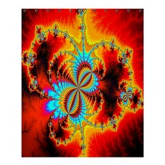 Crazy Mandelbrot Fractal Red Yellow Turquoise Shower Curtain 60  X 72  (medium)