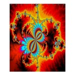 Crazy Mandelbrot Fractal Red Yellow Turquoise Shower Curtain 60  x 72  (Medium)  54.25 x65.71 Curtain