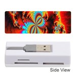 Crazy Mandelbrot Fractal Red Yellow Turquoise Memory Card Reader (Stick)  Front