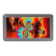 Crazy Mandelbrot Fractal Red Yellow Turquoise Memory Card Reader (Mini)