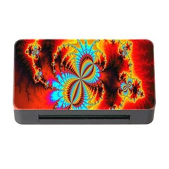 Crazy Mandelbrot Fractal Red Yellow Turquoise Memory Card Reader with CF