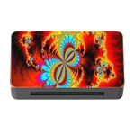 Crazy Mandelbrot Fractal Red Yellow Turquoise Memory Card Reader with CF Front