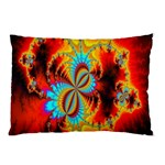 Crazy Mandelbrot Fractal Red Yellow Turquoise Pillow Case (Two Sides) Back
