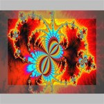 Crazy Mandelbrot Fractal Red Yellow Turquoise Deluxe Canvas 16  x 12   16  x 12  x 1.5  Stretched Canvas