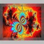 Crazy Mandelbrot Fractal Red Yellow Turquoise Deluxe Canvas 20  x 16   20  x 16  x 1.5  Stretched Canvas