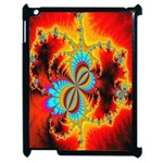Crazy Mandelbrot Fractal Red Yellow Turquoise Apple iPad 2 Case (Black) Front