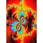 Crazy Mandelbrot Fractal Red Yellow Turquoise Peace Sign 3D Greeting Card (7x5) Inside