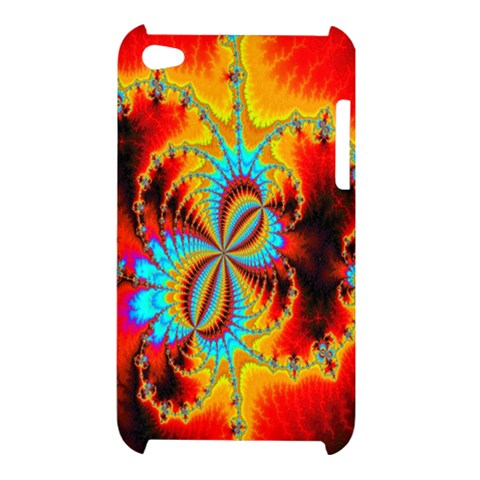 Crazy Mandelbrot Fractal Red Yellow Turquoise Apple iPod Touch 4