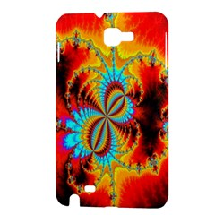 Crazy Mandelbrot Fractal Red Yellow Turquoise Samsung Galaxy Note 1 Hardshell Case
