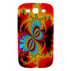 Crazy Mandelbrot Fractal Red Yellow Turquoise Samsung Galaxy S III Hardshell Case