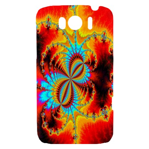 Crazy Mandelbrot Fractal Red Yellow Turquoise HTC Sensation XL Hardshell Case