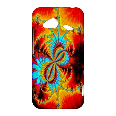 Crazy Mandelbrot Fractal Red Yellow Turquoise HTC Droid Incredible 4G LTE Hardshell Case