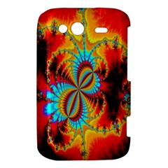 Crazy Mandelbrot Fractal Red Yellow Turquoise HTC Wildfire S A510e Hardshell Case