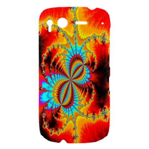 Crazy Mandelbrot Fractal Red Yellow Turquoise HTC Desire S Hardshell Case