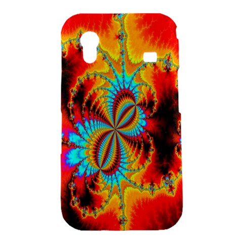 Crazy Mandelbrot Fractal Red Yellow Turquoise Samsung Galaxy Ace S5830 Hardshell Case