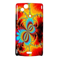 Crazy Mandelbrot Fractal Red Yellow Turquoise Sony Xperia Arc