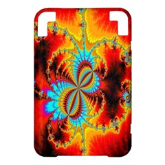 Crazy Mandelbrot Fractal Red Yellow Turquoise Kindle 3 Keyboard 3G