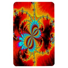 Crazy Mandelbrot Fractal Red Yellow Turquoise Kindle Fire (1st Gen) Hardshell Case