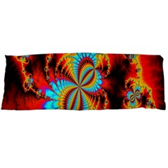 Crazy Mandelbrot Fractal Red Yellow Turquoise Body Pillow Case (Dakimakura)