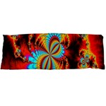 Crazy Mandelbrot Fractal Red Yellow Turquoise Body Pillow Case Dakimakura (Two Sides) Back