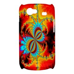 Crazy Mandelbrot Fractal Red Yellow Turquoise Samsung Galaxy Nexus S i9020 Hardshell Case