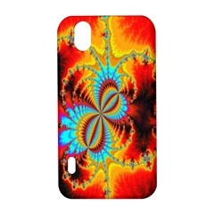 Crazy Mandelbrot Fractal Red Yellow Turquoise LG Optimus P970