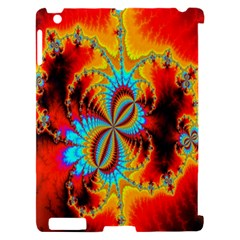 Crazy Mandelbrot Fractal Red Yellow Turquoise Apple iPad 2 Hardshell Case (Compatible with Smart Cover)