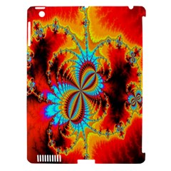 Crazy Mandelbrot Fractal Red Yellow Turquoise Apple iPad 3/4 Hardshell Case (Compatible with Smart Cover)