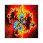 Crazy Mandelbrot Fractal Red Yellow Turquoise Acrylic Tangram Puzzle (6  x 6 ) Front