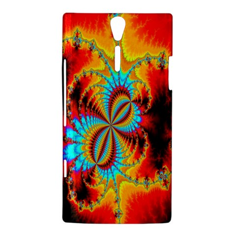 Crazy Mandelbrot Fractal Red Yellow Turquoise Sony Xperia S
