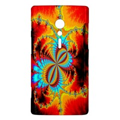 Crazy Mandelbrot Fractal Red Yellow Turquoise Sony Xperia ion