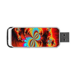 Crazy Mandelbrot Fractal Red Yellow Turquoise Portable USB Flash (One Side)