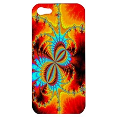 Crazy Mandelbrot Fractal Red Yellow Turquoise Apple iPhone 5 Hardshell Case