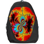 Crazy Mandelbrot Fractal Red Yellow Turquoise Backpack Bag Front