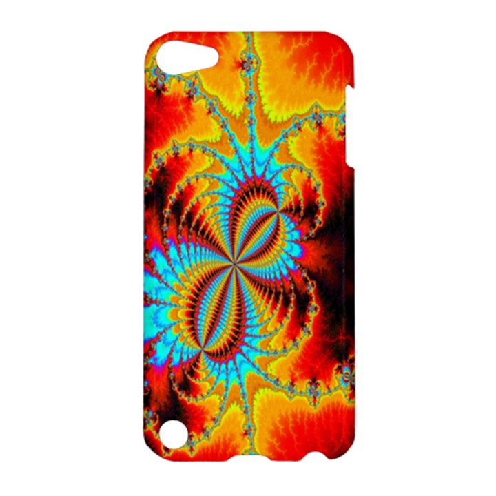 Crazy Mandelbrot Fractal Red Yellow Turquoise Apple iPod Touch 5 Hardshell Case
