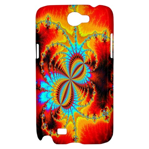 Crazy Mandelbrot Fractal Red Yellow Turquoise Samsung Galaxy Note 2 Hardshell Case