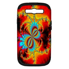 Crazy Mandelbrot Fractal Red Yellow Turquoise Samsung Galaxy S Iii Hardshell Case (pc+silicone)