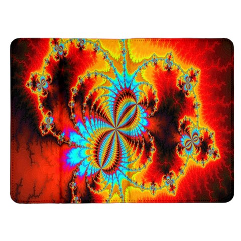 Crazy Mandelbrot Fractal Red Yellow Turquoise Kindle Fire (1st Gen) Flip Case